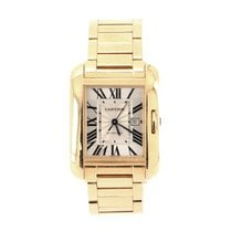 Cartier Rose gold Automatic Silver 30mm pre-owned Tank Anglaise