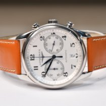 Longines Master Collection pre-owned 40mm Silver Chronograph Date Leather