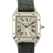 Cartier Steel Quartz Silver 27.5mm pre-owned Santos Dumont