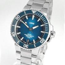 Oris Steel Automatic Blue No numerals 43.5mm new Aquis Date