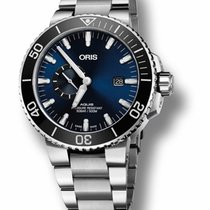 Oris Aquis Small Second Steel 45.5mm Blue No numerals United States of America, New York, New York