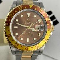Rolex GMT-Master II Gold/Stahl 40mm Braun Keine Ziffern Schweiz, Roveredo