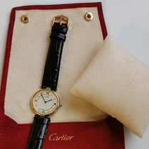 Cartier Silber Quarz Weiß Römisch 30mm gebraucht