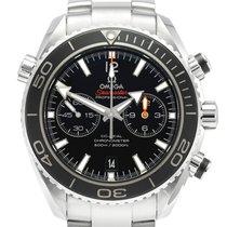 Omega Seamaster Planet Ocean Chronograph Zeljezo 45.5mm Crn Bez brojeva