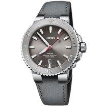 Oris Steel Automatic Grey No numerals 43.5mm new Aquis Date