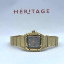 Cartier Желтое золото Автоподзавод Cерый 23mm подержанные Santos Galbée