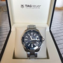 TAG Heuer Ceramic Automatic Blue No numerals 43mm pre-owned Aquaracer 300M