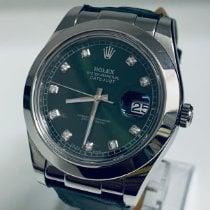 Rolex Datejust II Acier 41mm Vert Sans chiffres