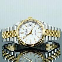 Rolex Datejust Желтое золото 41mm Белый Без цифр