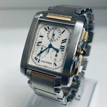 Cartier Tank Française neu 2014 Quarz Chronograph Uhr mit Original-Box und Original-Papieren 2303
