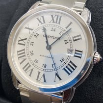 Cartier Steel Automatic White Roman numerals 42mm new Ronde Solo de Cartier