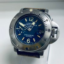 Panerai Luminor Submersible Otel 44mm Albastru Arabic