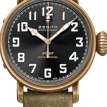 Zenith Pilot Type 20 Extra Special Bronze 40mm Black Arabic numerals United States of America, Texas, Houston