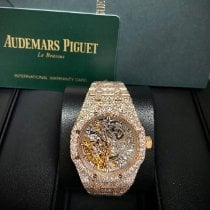 Audemars Piguet Royal Oak Double Balance Wheel Openworked Roségoud 37mm Doorzichtig Geen cijfers