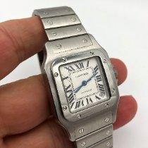 Cartier Santos Galbée Stahl 32mm Weiß Römisch