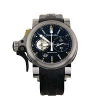 Graham Chronofighter R.A.C. pre-owned 57mm Black Chronograph Date Rubber