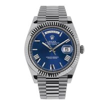 Rolex Day-Date 40 White gold 40mm Blue Roman numerals United States of America, New York, New York