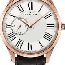 Zenith Rose gold Automatic White Roman numerals 40mm new Elite Ultra Thin