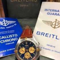 Breitling Callisto Золото/Cталь 36mm Синий Без цифр