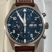 IWC Pilot Chronograph Steel 43mm Blue Arabic numerals United States of America, New Mexico, White Rock