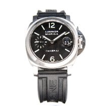 Panerai Luminor Marina Automatic begagnad 40mm Svart Datum Naturgummi