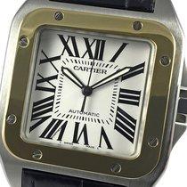 Cartier 2656 Сталь 2005 Santos 100 38mm подержанные