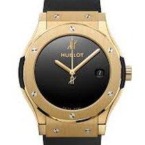 Hublot Желтое золото Автоподзавод Черный Без цифр 45mm новые Classic Fusion 45, 42, 38, 33 mm