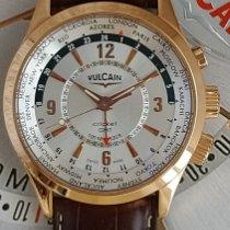 Vulcain Aviator Pозовое золото 42mm Белый Aрабские