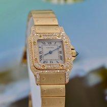Cartier Santos Galbée новые 2002 Кварцевые Часы с оригинальными документами и коробкой 866930