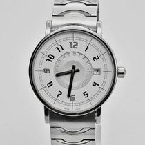 Montblanc Summit pre-owned 38mm White Date Fold clasp, hidden