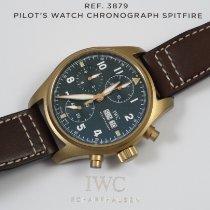 IWC Bronce Automático Verde Arábigos 41mm nuevo Pilot Spitfire Chronograph