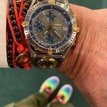Breitling Chronomat B13047 Très bon Or/Acier 45mm Remontage automatique