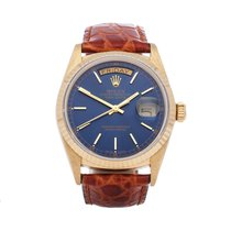 Rolex Day-Date 36 Yellow gold 36mm Blue Roman numerals