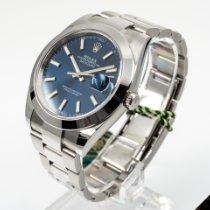 Rolex Datejust Staal 41mm Blauw