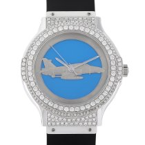 Hublot White gold Automatic Blue 36mm pre-owned