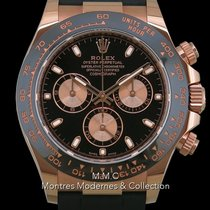 Rolex Daytona Or rose 40mm Noir Sans chiffres France, Paris
