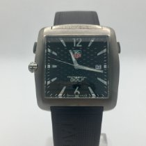 TAG Heuer Titanium Quartz Black No numerals pre-owned Professional Golf Watch