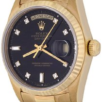Rolex Day-Date 36 Yellow gold 35mm Black No numerals United States of America, Texas, Dallas