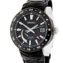 Seiko Ananta Steel 46mm Black No numerals