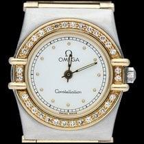 Omega Constellation Ladies Or/Acier 24mm Blanc Sans chiffres