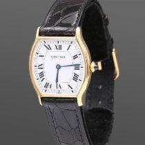 Cartier Tortue Żółte złoto 28mm Biały Rzymskie