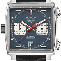 TAG Heuer Monaco Calibre 11 Steel 39mm Blue No numerals United States of America, New York, New York