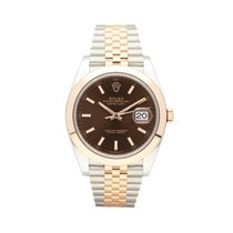Rolex Datejust Gold/Steel 41mm Brown No numerals South Africa, Centurion