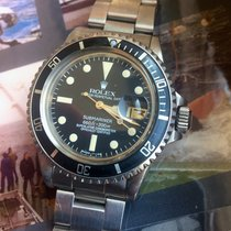 Rolex Submariner Staal 40mm Zwart Geen cijfers