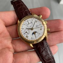 Omega Speedmaster Professional Moonwatch Moonphase Oro amarillo 39mm Blanco Sin cifras