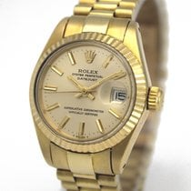 Rolex Oyster Perpetual Lady Date Steel 26mm Silver No numerals