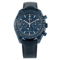 Omega Speedmaster Professional Moonwatch Moonphase occasion 44mm Bleu Chronographe Cuir