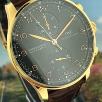 IWC Portuguese Chronograph Rose gold 41mm Black Arabic numerals United States of America, California, Beverly Hills