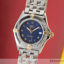 Breitling Callistino gebraucht 27.5mm Blau Datum Stahl