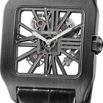 Cartier Titanium Manual winding Transparent Roman numerals 38.7mm new Santos Dumont